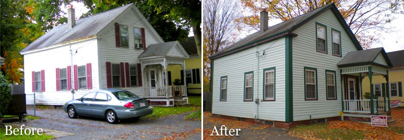 exterior house painting in central mass