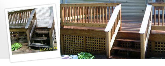 washed, stained and sealed decks around Charlton, MA