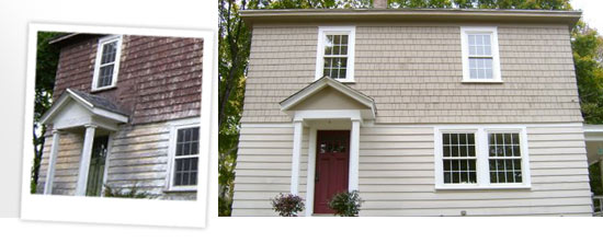 shingle cleaning and painting around Auburn, MA
